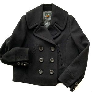J. Crew Double Breasted Navy Wool Swing Pea Coat